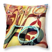 Warehouse Liquor Throw Pillow