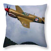 Warhawk Curtiss P-40  Throw Pillow