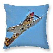 Warhawk Fighter Throw Pillow