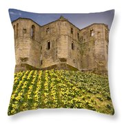 Warkworth Castle In The Sky Throw Pillow