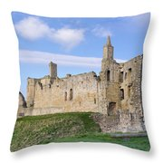Warkworth Castle Panorama Throw Pillow