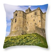 Warkworth Castles North Keep Throw Pillow