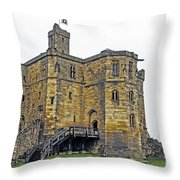 Warkworth In The Fog Throw Pillow