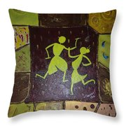 Warli Dance Throw Pillow