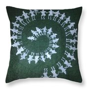 Warli On Handmade Paper Throw Pillow