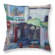 Warm Afternoon In The City  Throw Pillow