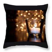 Warm Christmas Glow Throw Pillow
