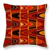 Warm Colors Lines And Swirls Abstract Throw Pillow