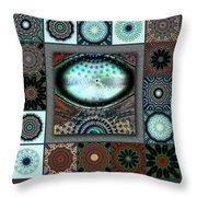 Warm Cosmos Redux Throw Pillow