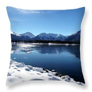 Warm December Throw Pillow