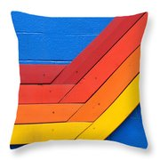 Warm On Cool Throw Pillow