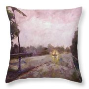Warm Rain Throw Pillow
