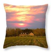 Warm Spring Sunset Throw Pillow