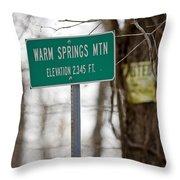 Warm Springs Mountain  Throw Pillow