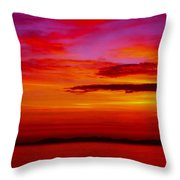 Warm Sunset Throw Pillow