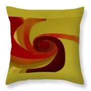 Warm Swirl Throw Pillow