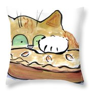 Warm Thanksgiving Day Pie Throw Pillow