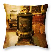 Warming The Place Up Throw Pillow
