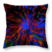 Warmth From The Blue Pool Throw Pillow