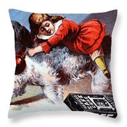 Warner's Safe Cure  Throw Pillow