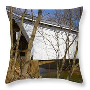 Warnke Covered Bridge  Throw Pillow
