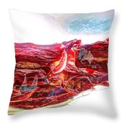Warped Dried Tomatoes Throw Pillow