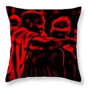 Warren Sapp And Jon Gruden Throw Pillow