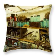 Warrenton Antique Days Eclectic Display Throw Pillow