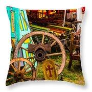 Warrenton Antique Days Wood Wheels And Wonders Throw Pillow