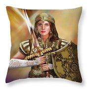 Warrior Bride Of Christ Throw Pillow