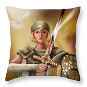 Warrior Bride Throw Pillow