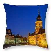 Warsaw By Night Throw Pillow