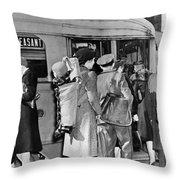 Wartime Modern Papoose Throw Pillow