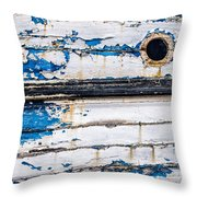Was Once Blue Throw Pillow