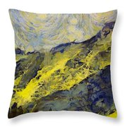 Wasatch Range Spring Colors Throw Pillow