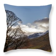 Wasdale Head Lake District Throw Pillow