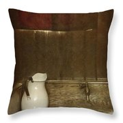 Wash Basin Throw Pillow