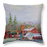 Washed Away Throw Pillow