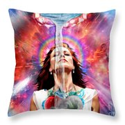 Washed By The Water Throw Pillow