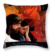 Washed In His Love Throw Pillow