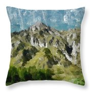 Washed Out Throw Pillow by Ayse Deniz