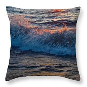 Washing Ashore Throw Pillow