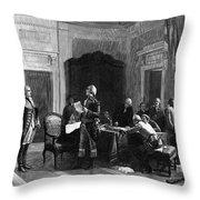 Washington And Lafayette Throw Pillow