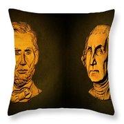 Washington And Lincoln Throw Pillow