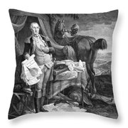 Washington At Yorktown Throw Pillow