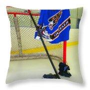 Washington Capitals Blue Away Hockey Jersey Throw Pillow
