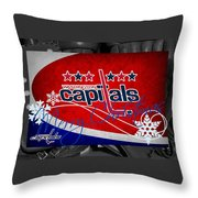 Washington Capitals Christmas Throw Pillow