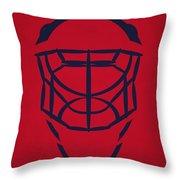 Washington Capitals Goalie Mask Throw Pillow