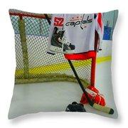 Washington Capitals Mike Green Away Hockey Jersey Throw Pillow
