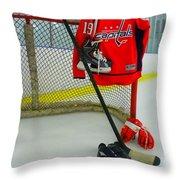 Washington Capitals Nicklas Backstrom Home Hockey Jersey Throw Pillow